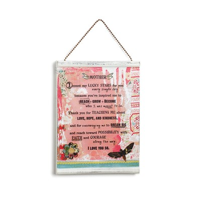 Mother Message Wall Plaque  -     By: Kelly Rae Roberts