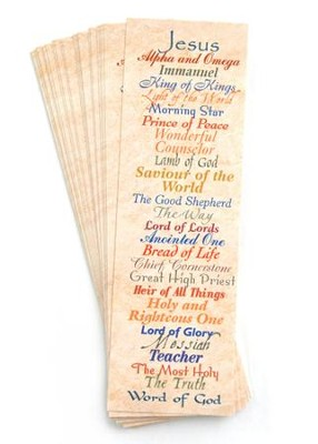 Names of Jesus Bookmarks, 25-Pack   -