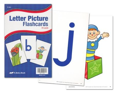 Abeka K4-K5 Letter Picture Flashcards (78 cards)   -