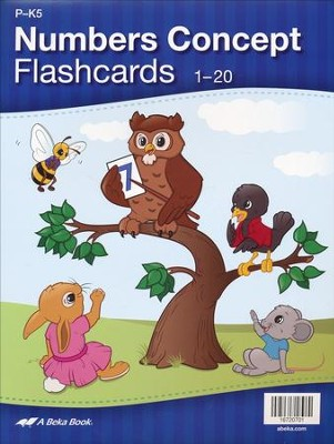 Abeka Number Concept Flashcards (set of 20)   -