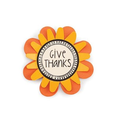 Give Thanks Flower Magnet  -     By: Carol Roeda