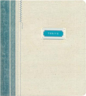 NLT Thrive: A Journaling Devotional Bible for Women, Fabric Hardcover Shabby Chic Blue/Cream  -     By: Sheri Rose Shepherd