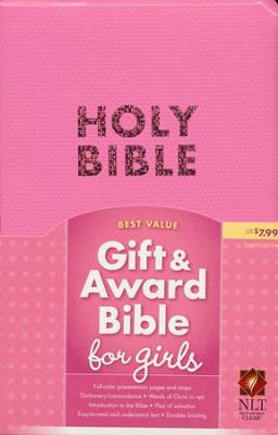 NLT Gift and Award Bible, Bubble Gum Pink Imitation Leather  -