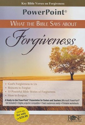 What the Bible Says About Forgiveness - PowerPoint CD-ROM   -