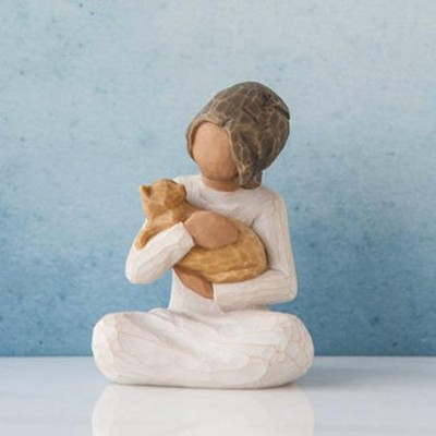 Kindness, Girl With Kitten Figure By Willow Tree  -     By: Susan Lordi