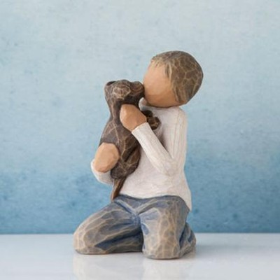 Kindness, Boy with Puppy Figure By Willow Tree  -     By: Susan Lordi