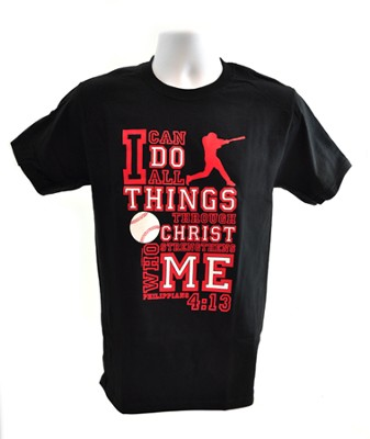 I Can Do All Things Shirt, Baseball, Black, 3X Large  -