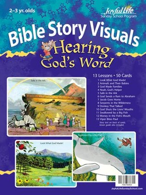 Hearing God's Word (ages 2 & 3) Bible Visuals   -