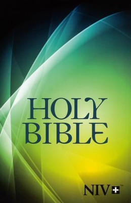 NIV Larger-Print Bible--softcover, graphic  -