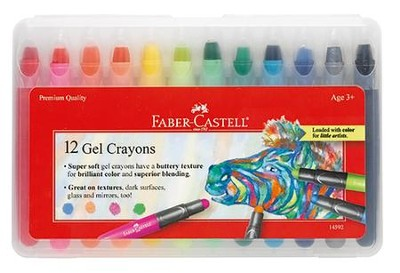 Gel Crayons, Set of 12  -