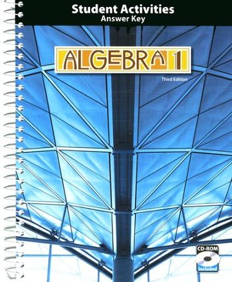 BJU Algebra 1 Grade 9 Activities Manual Key with CD-ROM,  (Third Edition)  -