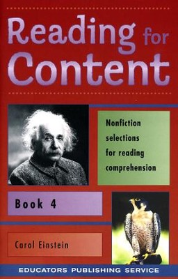 Reading for Content Book 4, Grade 6   -     By: Carol Einstein