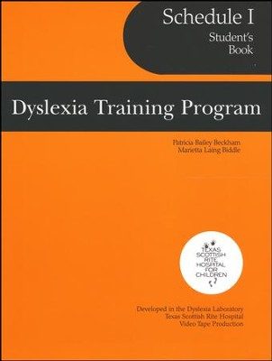 Dyslexia Training Program Schedule 2A, Student   -