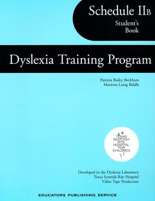 Dyslexia Training Program Schedule 2B, Student   -     By: Homeschool