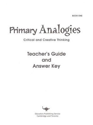 Primary Analogies, Book 1, Teacher's Guide   -