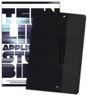 NLT Teen Life Application Study Bible, TuTone Black Pocket Imitation Leather  -