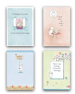 Really Woolly Thinking of You Cards, Box of 12  -