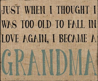 Just When I Thought I Was Too Old to Fall in Love Again, I Became a Grandma Box Sign  -     By: Barbara Lloyd