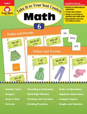 Take It to Your Seat Centers: Common Core Math, Grades 6 and Up  -