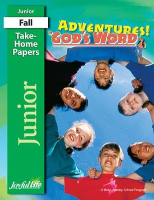 Adventures in God's Word Junior (Grades 5-6) Take-Home Papers  -