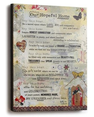 Our Hopeful Home Canvas Wall Art  -     By: Kelly Rae Roberts