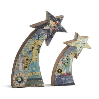 Shooting Star Figurine, Set of 2  -     By: Kelly Rae Roberts