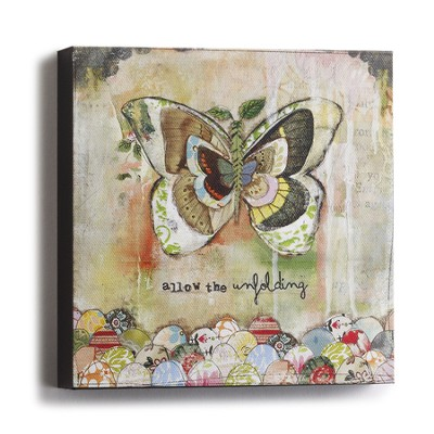 Unfolding, Butterfly Plaque  -     By: Kelly Rae Roberts