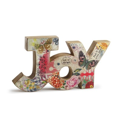 Joy Word Sculpture  -     By: Kelly Rae Roberts     Illustrated By: Jason Fruchter