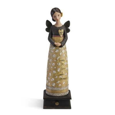 Heart Whispers Angel Figurine  -     By: Kelly Rae Roberts