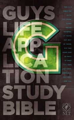 NLT Guys Life Application Study Bible, Softcover  - Imperfectly Imprinted Bibles  -