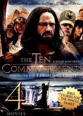 4-Movie Bible Story Collection V.1: The Ten Commandments /  Joseph and His Brethren / The Great Commandment / David and  Goliath  -
