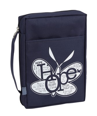 Hope Bible Cover, Navy, Large  -