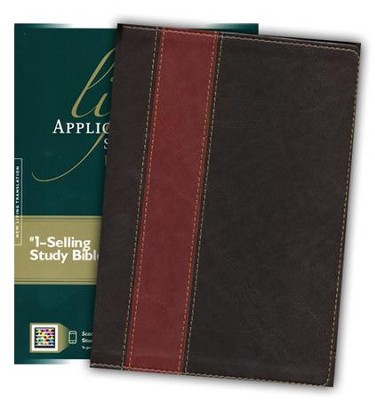 NLT Life Application Study Bible, Large Print TuTone Leatherlike Brown/Tan Indexed  -