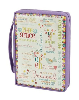 Grace Bible Cover, Large  -
