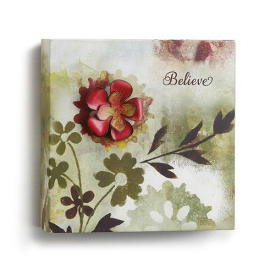 Believe Wall Art, Small  -     By: Willie Green-Aldridge