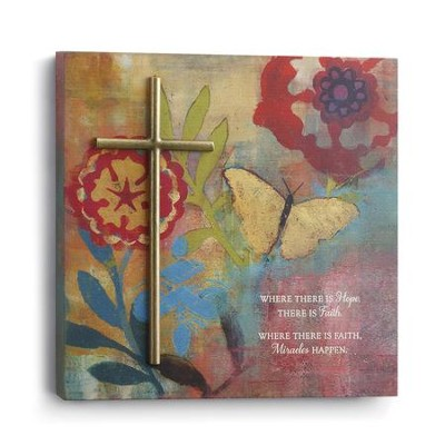Where There Is Faith, Miracles Happen Wall Art  -     By: Willie Green-Aldridge