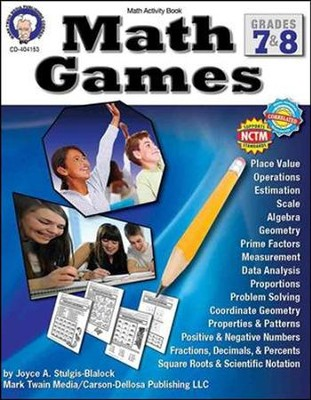 Math Games, Grades 7-8  -     By: Joyce Stulgis-Blalock