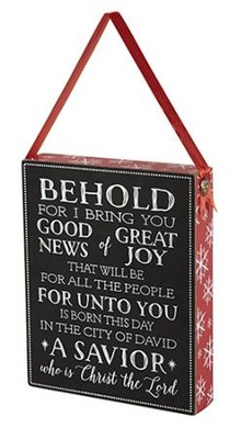 Behold For I Bring You, Chalkboard Plaque   -