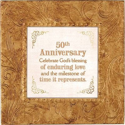 50th Anniversary, Celebrate God's Blessing, Framed Print, 7X7  -