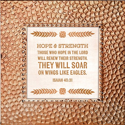 Those Who Hope In the Lord Will Renew Their Strength, Framed Print, 7X7  -