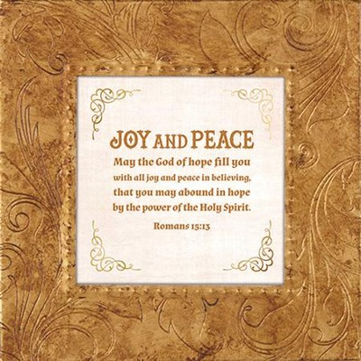 May the God Of Hope Fill You With All Joy and Peace In Believing, Framed Print, 7X7  -