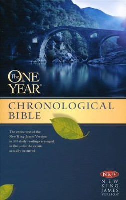 NKJV One Year Chronological Bible, Paperback  -