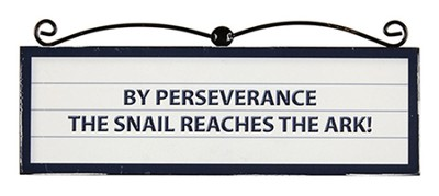 By Perseverance the Snail Reaches the Ark Plaque   -