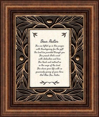 Dear Pastor, You Are Lifted Up In This Prayer, Tabletop Framed Print  -
