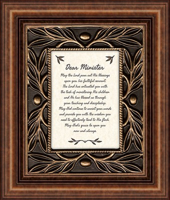 Dear Minister, May the Lord Pour Out His Blessings, Tabletop Framed Print  -