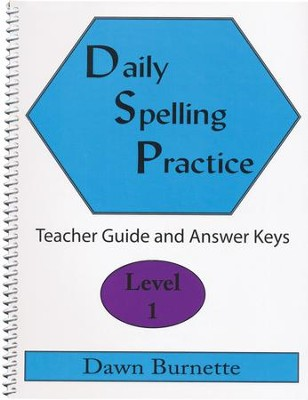 Daily Spelling Practice Level 1 Teacher Guide  -     By: Dawn Burnette