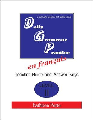Daily Grammar Practice in French Level 2 Teacher Guide   -