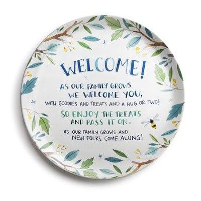 Welcome Family Giving Plate  -