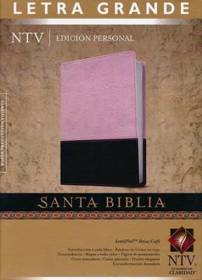 Biblia Personal Letra Gde.  NTV, SentiPiel DuoTono Rosa/Cafe  (NTV LgPt. Personal Bible, Leatherlike DuoTone Pink/Coffee)  -