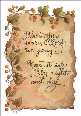 Bless this House Plaque  -     By: Diane Knott